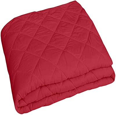 Jaipurwala Matress Protection Cover King Size Waterproof Maroon