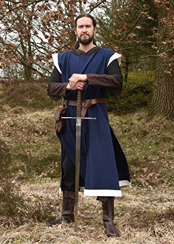 Mittelalter Gürtel aus Leder braun mit Messingring, ca. 150 cm lang – Wikinger LARP Ledergürtel von Battle-Merchant - 4