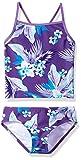 Kanu Surf Girls' Big Melanie Beach Sport 2-Pc Banded Tankini Swimsuit, Alania Floral Purple, 14