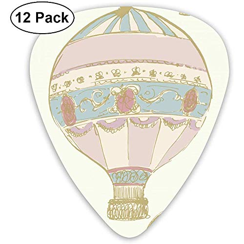 12 Pack Gitaar Plectrums Ukulele Bass Picks, Hot Air Ballonnen Celluloid Gitaar Pick Set