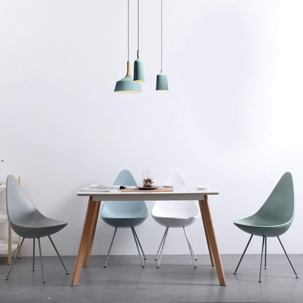 ZHENHAO Chaises De Salle à Manger, Design Ergonomique, avec Pieds en Métal, Style Rétro pour Bureau Salon Salle à Manger Cuisine Tulipe Moderne White