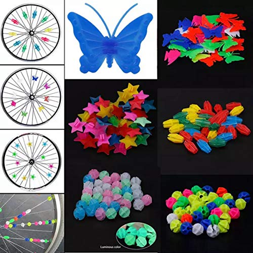 170 Pieces Bike Wheel Spokes Bicycle Spoke Beads Clip Kids Bike Decoration Accessories