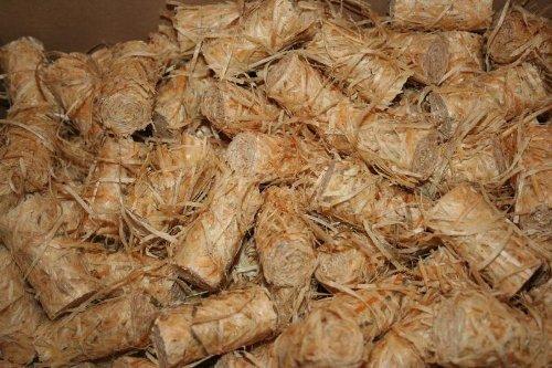 Anzündhilfe Feuer & Flamme für Kamin & Grill 1 kg Sack Holzwolle als Anbrennhilfe