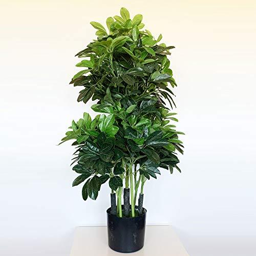 Wellhome Planta Ficus Verde Artificial de 110 cm de Altura con Maceta