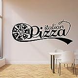 WERWN Pizza Italiana Logo Tatuajes de Pared Tienda Caliente pizzería Delicioso Restaurante Cocina decoración de Interiores Vinilo Ventana Pegatina Mural