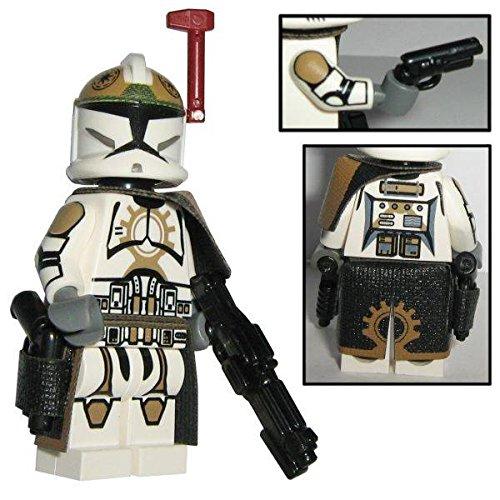 Custom Brick Design 87th Star Corps Legion Clone Trooper Sergeant Offizier Figur V.1 - modifizierte Minifigur des bekannten Klemmbausteinherstellers und somit voll kompatibel zu Lego