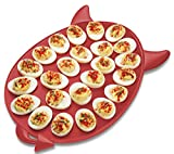 Deviled Egg Tray – Egg Serving Tray With Devil Horns And Tail Durable ABS Plastic – Unique Kitchen Serving Tray Holds 24 Eggs