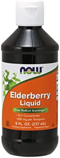 NOW FOODS Elderberry Liquid, 8 Oz (Pack of 2)