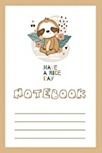 Notebook: Sloths Notebook Journal For Women Girls Kids Gifts: Sloths Journal Composition Book for Girls for Hand Writing P...