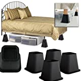 Home Collections 4 Pack Square Bed Risers - Create Additional Storage Space!
