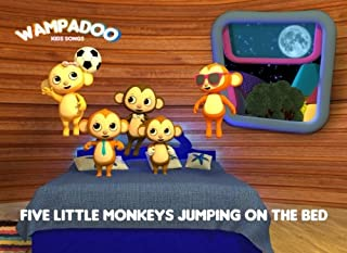Five Little Monkeys Jumping on the Bed (picture book with song lyrics and coloring book): A picture book of Five Little Mo...
