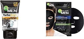 Garnier Men Detox Kit: Garnier Men Turbo Bright Charcoal Brightening Facewash, 150gm + Charcoal Mask