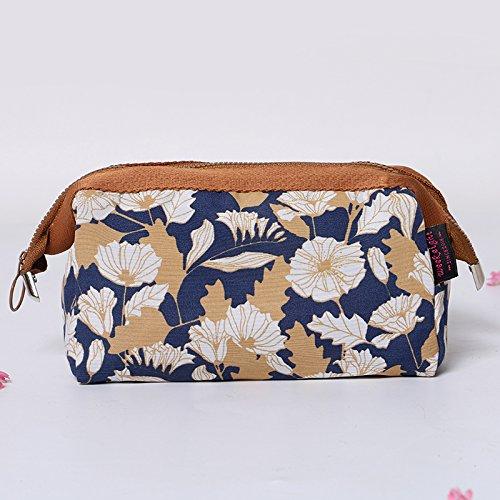 MZP Mme Corée forfait d'admission cosmétiques grande capacité portable petit imperméable sac à main trousses de toilette de Voyage sac cosmétique , coffee chrysanthemum
