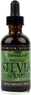 Stevia Whole Leaf Concentrate, 2fl Ounces (60ml)  Bottles (Pack of 2)