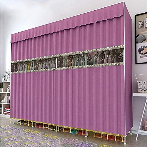 Haushaltsgeräte Tragbare Schränke für ng Kleidung Tragbare Kleiderschränke für die Aufbewahrung von Kleiderschränken mit ng Rack - Extra breit - Werkzeuglose Montage - Extra stark, langlebig A 190