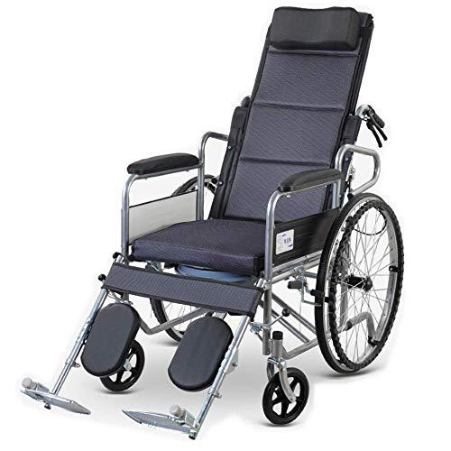 N/Z Inicio Equipo Ancianos Silla de Ruedas Plegable Ligero Multifunción Pequeños usuarios discapacitados Reconocimiento de Empuje Manual Baúl de automóvil portátil Plegable en Acero/B/como Muestra