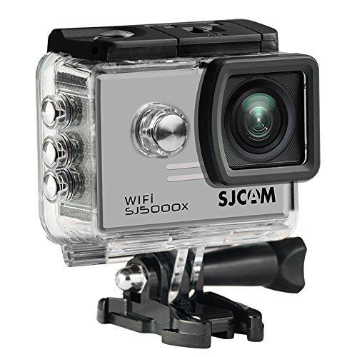 16GB TF Card+SJCAM SJ5000X Elite Sports Action Camera Ultra-HD 2.0 Inch LTPS WiFi 4K 24fps Sport DV 2.0 LCD NTK96660 Diving 30m Waterproof Action Camera+1pcs battery charger+1pcs Extra Battery(Sliver)
