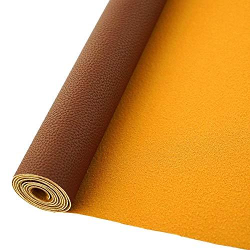 AOUXSEEM Rollo de piel sintética de 30 cm x 132 cm, para...