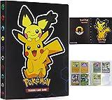 Album Cartas Pokemon, 30 páginas Album Pokemon, Álbum de Cartas Pokémon, Album Compatible Con Cartas de Pokemon, Sostiene Hasta 240 Tarjetas (Pikachu negro)