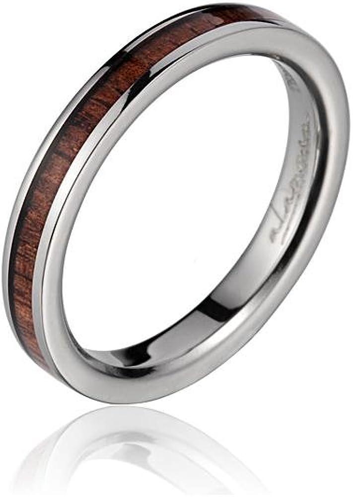 Arthur's Jewelry Genuine Max 52% OFF Inlay Hawaiian Band Wedding New product!! Wood koa Ri