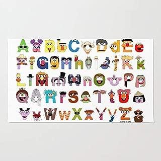 wangsajko Sesame Street Alphabet Floor Mat Door Mat Rug Inside Rubber Doormat'' (L23.6