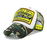 Berretto Da Baseball Sfilacciato Cappello Da Sole Moda Cappello A Punta 56-60cm Camouflage - Bianco - rete mimetica