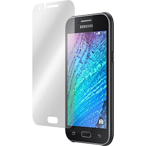 PhoneNatic 4er-Pack Bildschirmschutzfolien klar kompatibel mit Samsung Galaxy J1 (2015 - J100)