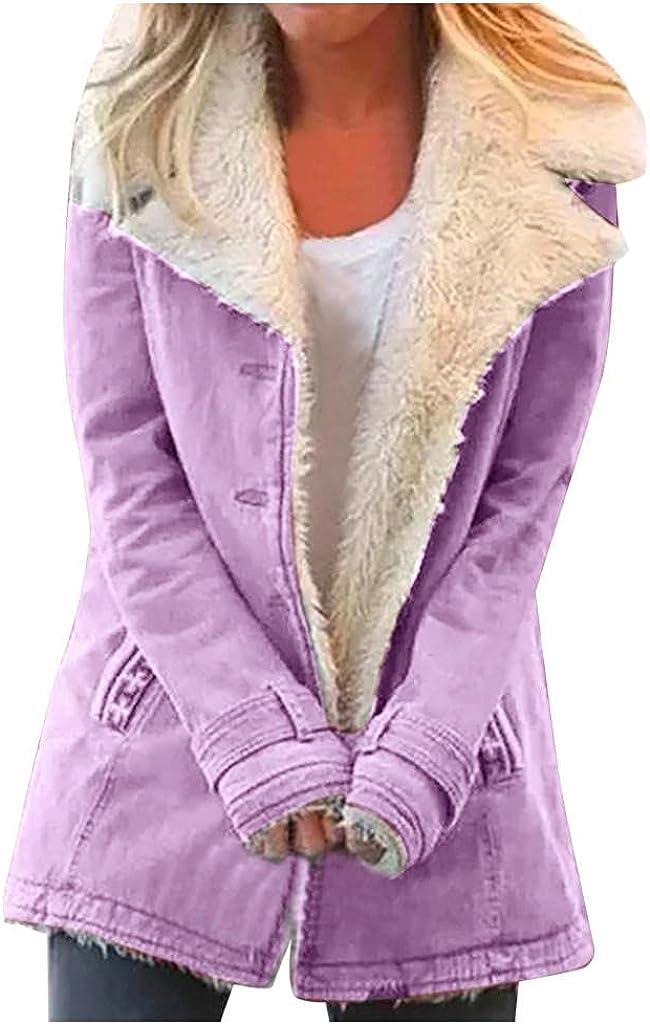 Winter Coat Wool Women Plus Size Warm Composite Plush button Lapels Jacket Coats Hooded Outerwear Trench Overcoat