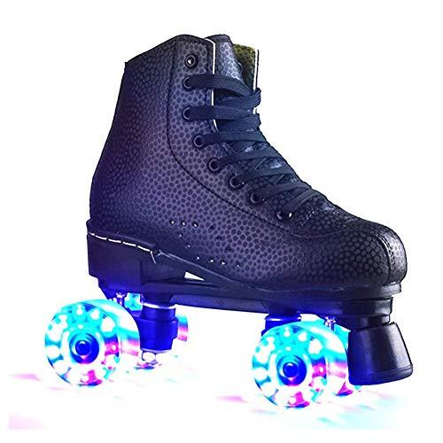 Pinkskattings@ Disco Roller, Classic Roller, Rollschuhe Für Kinder, Jugendliche Und Erwachsene Quad-Skates, Größen Von 35 Bis 44, Rollerskates,Schwarz,39