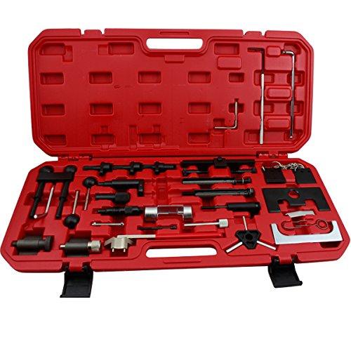 huigou HG® Motor Einstellwerkzeug Zahnriemenwerkzeug Zahnriemen Arretierwerkzeug Steuerriemen Kurbelwelle Nockenwelle Werkzeug Satz für VW Audi