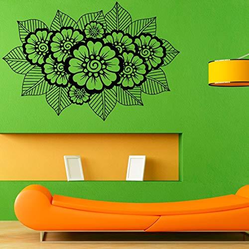mlpnko Nuevo diseño Lotus Mandala Art Pegatinas de Pared móviles Decoración del hogar Sala de Estar Pegatinas de Pared,CJX10177-66x43cm