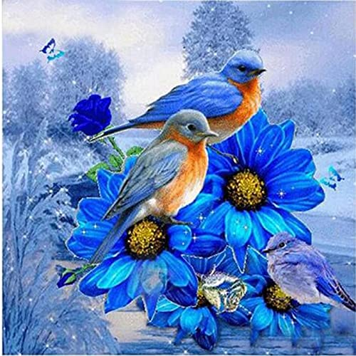 5D DIY Diamond Painting Kits for Adults and Kids Pájaro EmbroideryFull Drill Diamond Painting Arts Craft Decoration for Home,Office,Rhinestone Diamond Art 40x40cm(16x16in)