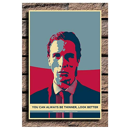 Christian Bale American Psycho Painting Poster Print Canvas Wall Picture Inicio Sala de estar dormitorio Decoración -50x75cm Sin marco