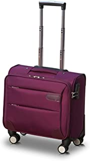BXDYA Trolley Case Oxford Cloth Gift Business Universal Wheel Boarding Business Travel Suitcase, 40cmX20cmX36cm (Color : Purple)