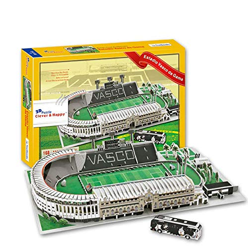 Stadio Sportivo Modello 3D, Vasco da Gama Modello Stadio Fan ricordo Puzzle Fai da Te, 16'x 11' x 7'
