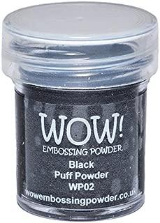 Wow Embossing Powder 15ml, Black Puff