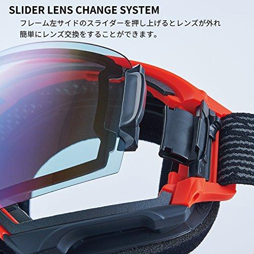 【国産ブランド】DICE(ダイス)スキースノーボードゴーグルハイローラー紫外線で色が変わるULTRAレンズミラー調光プレミアムアンチフォグHR84265MBK
