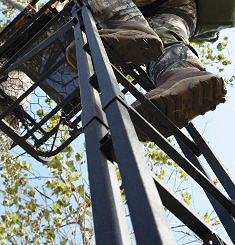 Muddy MLS1550 Skybox Deluxe Ladder Stand, 20', Double Rail Ladder