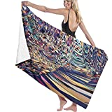 Farbige Dreiecksfragmente Strandtuch Polyester Badetuch Schnelltrocknende Stranddecke, Handtücher