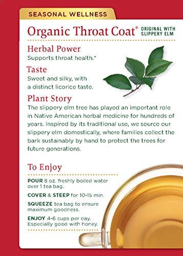 Traditional Medicinals Organic Throat Coat Seasonal Tea (Pack of 1), Supports Throat Health, 16 Tea Bags