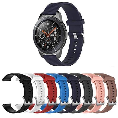 Pulseira TX Silicone para Samsung Galaxy Watch 46mm - Gear S3 Frontier - Gear S3 Classic - Gear 2 - Azul Marinho