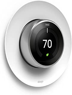 elago Satellite Wall Plate Cover Compatible with Nest Learning Thermostat 1st/2nd/3rd Generation [White]