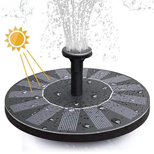 Upworld Solarbrunnen Pumpe Solar Wasserbrunnen Schwimmender Brunnen Upgrade 7V / 1.4W Vogelbad Brunnenpumpe mit 4 Düsen für Teich-, Pool-, Patio-, Rasen- und Gartendekoration