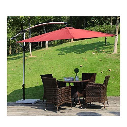 YYDD Conjuntos de Muebles de jardín con Parasol, Muebles del Patio del jardín de Tabla y sillas de ratán Muebles de jardín Patio Invernadero de jardín al Aire Libre Junto a la Piscina