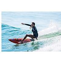 部屋の装飾のためのカスタムプリントウォールアートファブリックポスターをサーフィンする女性家の装飾-60x90cmx1フレームなし
