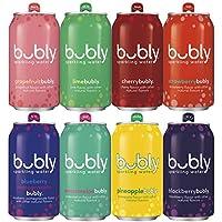 18-Pack Bubly Sparkling Water Fizzy Sampler Variety, 12 Fl Oz