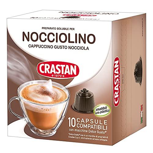 Crastan Capsule Compatibili Dolce Gusto, Nocciolino, 10 Confezioni da 10 Capsule, 100 Unità