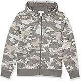 Amazon Essentials Full-Zip Hooded Fleece Sweatshirt Sudadera, Camo Gris, M