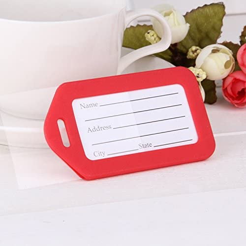 10 Pack Waterproof Luggage Tags Travel Labels Airline ID Name Card for Suitcase Bags - Pet Dog Cat Identification Cage Kennel Carrier ID Tag Multi-Color Single Color
