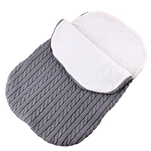 MH-RING Saco de Dormir Bebe, Saco de Dormir Ligero Sin Productos Químicos Ultraligero para Uso en Interiores y Exteriores (Color : Grey)